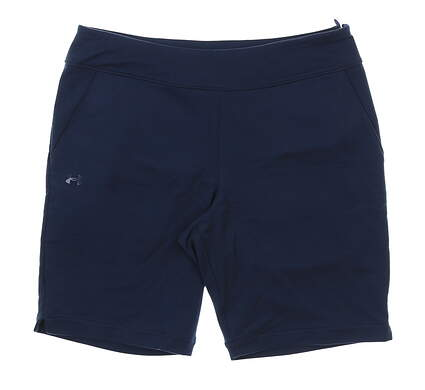 New Womens Under Armour Fitted Golf Shorts Size Medium M Navy Blue MSRP $55