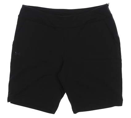 New Womens Under Armour Fitted Golf Shorts Size Medium M Black MSRP $55