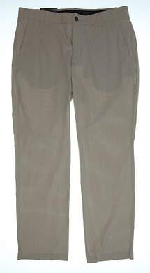 New Mens Under Armour Straight Leg Golf Pants 36x32 Khaki MSRP $75