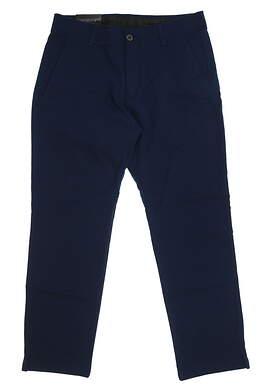 New Mens Under Armour Straight Leg Golf Pants 34x30 Navy Blue MSRP $75