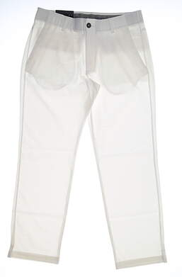 New Mens Under Armour Straight Leg Golf Pants 34x30 White MSRP $75