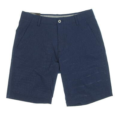 """New Mens Under Armour 10.5"""" Inseam Golf Shorts Size 34 Navy Blue MSRP $65"""