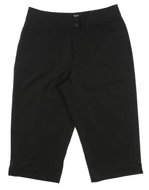 New Womens Tail Tech Pedal Pusher Shorts Size 6 Black MSRP $79