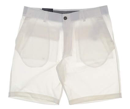 """New Mens Under Armour 10"""" Inseam Golf Shorts Size 36 White MSRP $65"""