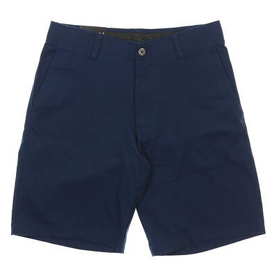 """New Mens Under Armour 10"""" Inseam Golf Shorts Size 32 Navy Blue MSRP $65"""