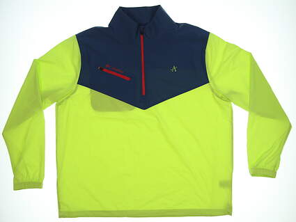 New W/ Logo Mens Columbia Wicked Shot Jacket Large L Lime/Navy/Red MSRP $90