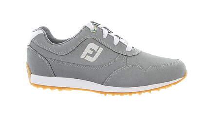 New Womens Golf Shoe Footjoy FJ Sport Retro Medium 9.5 Gray MSRP $100