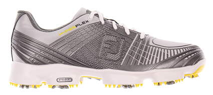 New Mens Golf Shoe Footjoy Hyperflex Wide 10 White/Grey MSRP $200
