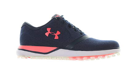 New Womens Golf Shoe Under Armour UA Performance SL 8.5 Navy Blue/Pink MSRP $130