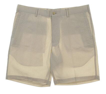 New Mens Peter Millar Apex Seersucker Shorts Size 35 Stone MSRP $95 MS18EB90