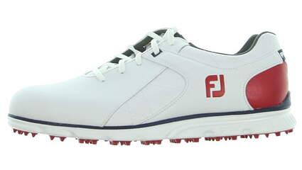 New Mens Golf Shoe Footjoy Pro SL Wide 9.5 White/Red MSRP $160
