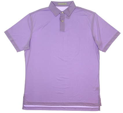 New Mens Peter Millar Featherweight Golf Polo Medium M Purple MSRP $75 MS18EK43S