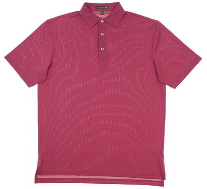 New Mens Peter Millar Summer Comfort Golf Polo Medium M Pink MSRP $79 MF17EK50S