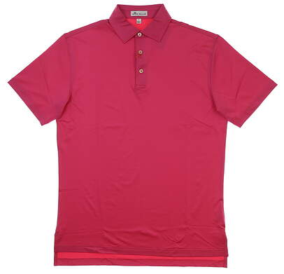 New Mens Peter Millar Golf Polo Small S Pink MSRP $84 MF18EK01S