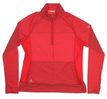 New Womens Adidas Rangewear1/2 Zip Golf Pullover Large L Pink MSRP $70 BC1813