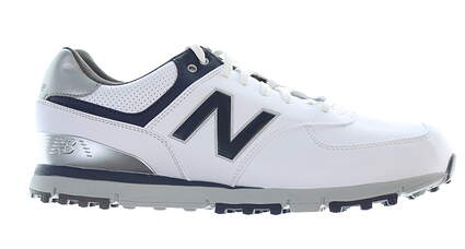 New Mens Golf Shoe New Balance 574 Medium 8.5 White/Navy MSRP $120