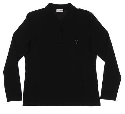 New Womens Golfino The Marta Long Sleeve Golf Polo XX-Small XXS Black MSRP $100 3338125