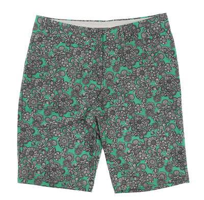 New Womens Peter Millar Golf Shorts Size 12 Green/Black/White MSRP $90