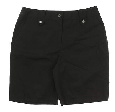 New Womens EP Pro Spanish Bay Golf Shorts Size 12 Charcoal MSRP $68 8530AC