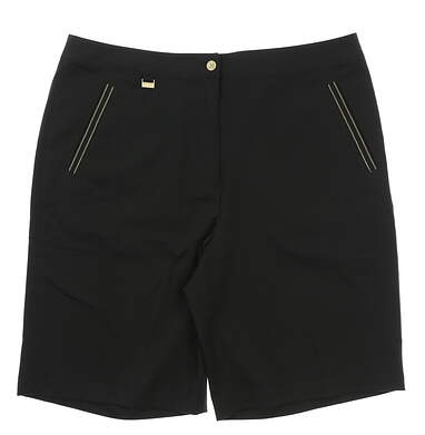 New Womens EP Pro Tour Tech Golf Shorts Size 14 Black MSRP $78