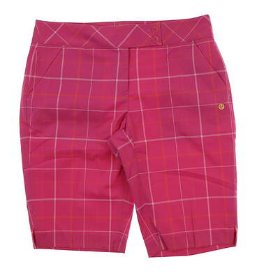 New Womens EP Pro Hot House Golf Shorts Size 8 Caliente Pink Multi MSRP $94