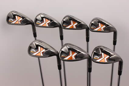 Callaway X-24 Hot Iron Set 4-PW FST KBS Tour Steel Stiff Right Handed 38 in