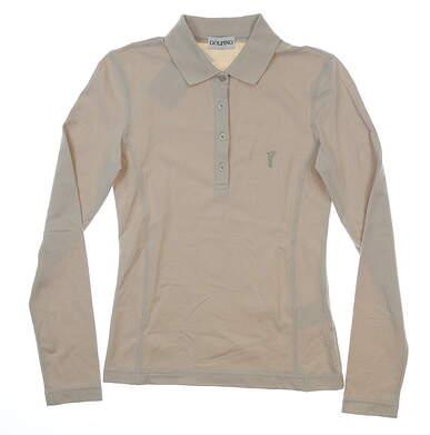 New Womens GolfinoLight Sun Protection Long Sleeve Golf Polo XX-Small XXS Tan MSRP $99