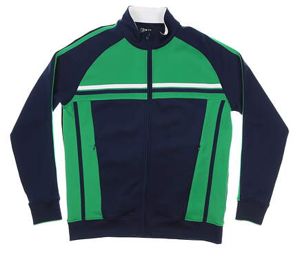 New Mens Bobby Jones Rule 18 Golf Jacket Large L Navy/Green MSRP $152 BR480248
