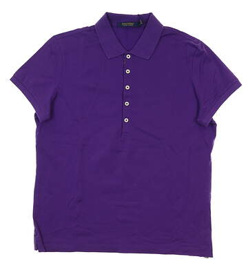 New Womens Ralph Lauren Golf Polo Large L Purple MSRP $85