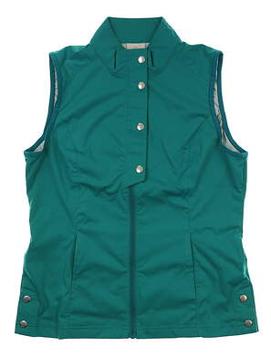 New Womens EP Pro Mykonos Golf Vest Small S Caribe Teal MSRP $98
