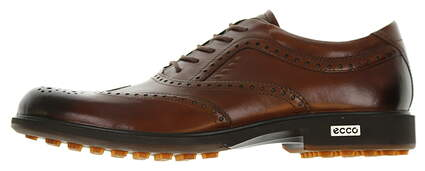 New Mens Golf Shoe Ecco Tour Hybrid Wing Tip 40(6-6.5) Walnut Brown MSRP $340