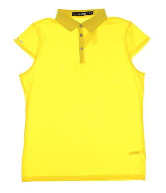 New Womens Ralph Lauren Golf Polo Medium M Yellow MSRP $85