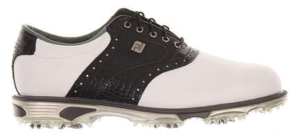 New Mens Golf Shoe Footjoy Dryjoys Tour Medium 11.5 White/Black MSRP $280