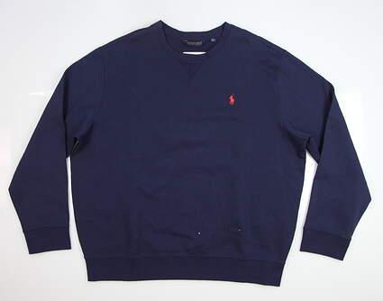 New Mens Ralph Lauren Sweatshirt XX-Large XXL Navy Blue MSRP $98