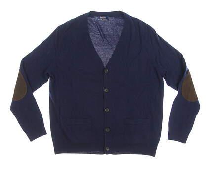 New Mens Ralph Lauren Cardigan Large L Navy Blue MSRP $98