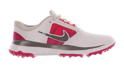 New W/O Box Womens Golf Shoe Nike Fi Impact 7 White/Pink MSRP $130