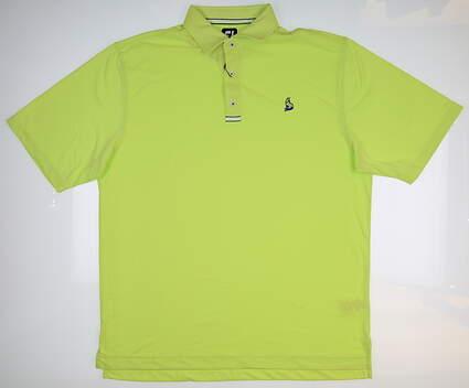 New W/ Logo Mens Footjoy Spun Poly Polo X-Large XL Green Apple MSRP $84 20027