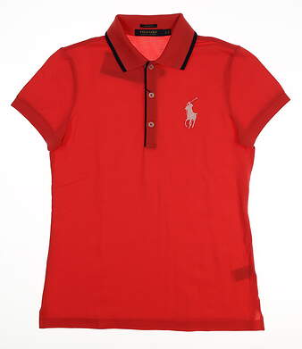 New Womens Ralph Lauren Golf Polo Small S Red MSRP $99