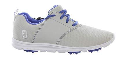 New Womens Golf Shoe Footjoy enJoy Medium 7.5 Light Gray/Purple MSRP $80