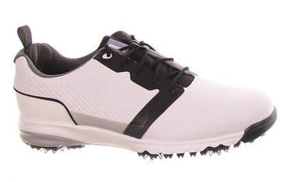 New Mens Golf Shoe Footjoy Contour Medium 11 White/Black MSRP $140
