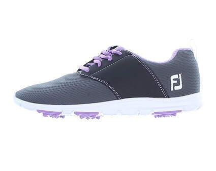 New Womens Golf Shoe Footjoy enJoy Medium 6.5 Gray/Purple MSRP $80