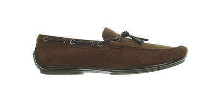 c947a2db605 New Mens Golf Shoe Peter Millar Pebble Green Tassel Loafer 10 Chocolate  MSRP  300