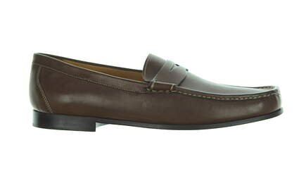 33bff7112a8 New Mens Golf Shoe Peter Millar Penny Loafer 8 Chocolate MSRP  300