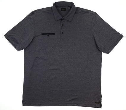 New Mens Greg Norman Golf Polo XX-Large XXL Navy Blue MSRP $79 G7F7K520