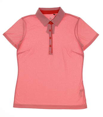 New Womens EP Pro Geo Jacquard Polo Small S Chili Pepper MSRP $72 NS5102X