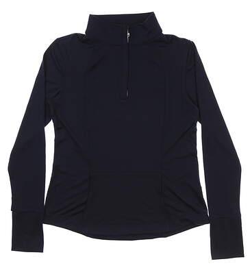 New Womens Heather Grey Miranda 1/2 Zip Golf Pullover Medium M Navy MSRP $100 220006