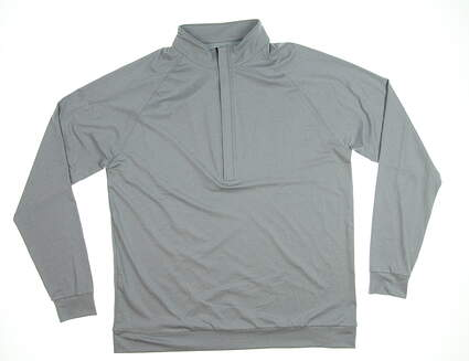 New Mens MATTE GREY Hightower 2.0 1/2 Zip Golf Pullover Large L Opal Gray MSRP $85 S-120093