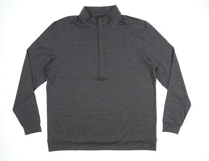 New Mens MATTE GREY Hightower 1/2 Zip Pullover Large L Charcoal Heather MSRP $85 120091