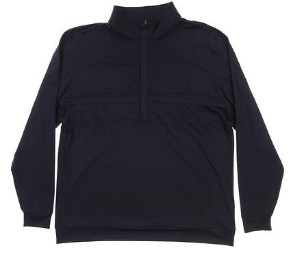New Mens MATTE GREY Anders 1/2 Zip Golf Pullover Large L Navy MSRP $100 120092