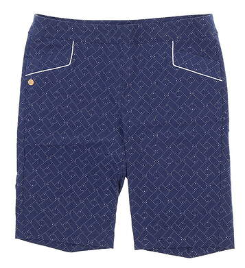 New Womens EP Pro Point Dot Geo Print Shorts Size Large L Blue MSRP $98 8231NBC